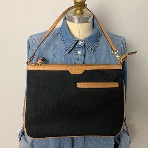Tutilo Black Nylon Canvas Purse Clutch Bag